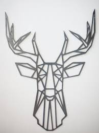 geometric metal animal wall art