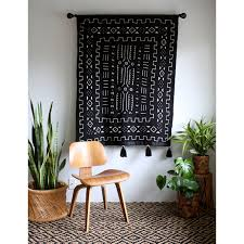 black mudcloth tapestry mud cloth wall hanging african mudcloth pom pom blanket mudcloth throw tassel tapestry bohemian home decor 159 00 usd by  on mud cloth wall art with large x 1 black mudcloth african wall hanging mud cloth large