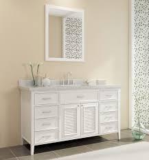 white single sink vanity. Ace Kensington 61 Inch Single Sink Vanity Set White Finish On White Single Sink Vanity