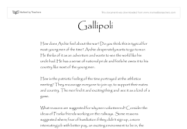 gallipoli movie essay gcse history marked by teachers com document image preview