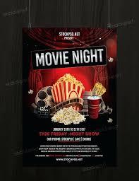 Vintage Film Festival Poster Flyer Template Cinema Movie Psd Free