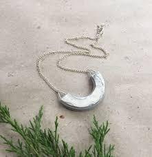 lucky pendant necklace handmade polymer clay semi circle white marble pendant geometric white marble pendant pn4054b