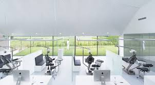 green eco office building interiors natural light. Calming Views Of The Garden Alleviate Patient Anxiety At This Modern Dental  Clinic Green Eco Office Building Interiors Natural Light