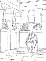 Mozes En Aäron Verschijnen Voor Farao Kleurplaat Gratis