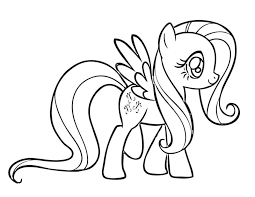 Small Picture Print My Little Pony Coloring Pages Fluttershy or Download My