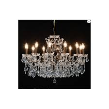 large 12 arm shallow chandelier bronze
