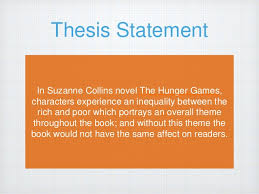 thesis the hunger games essays hunger games thesis statement