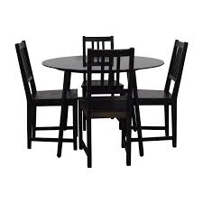 black furniture ikea. fine ikea buy ikea glass and wood table chairs on black furniture ikea s