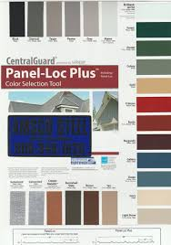 Central States Metal Color Chart Amsco Steel Colors Charts