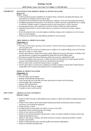 Medical Billing Supervisor Resume Sample Medical Office Manager Resume Samples | Velvet Jobs