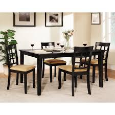 Homelegance Tibalt 5 Pc Rectangle Black Dining Table Set 60 In