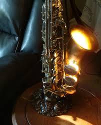 vintage alto saxophone lamp