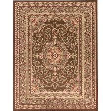traditional oriental medallion brown 8 ft x 10 ft area rug
