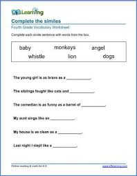 What free phonics worksheets would you like to see? Grade 4 Vocabulary Worksheets Printable And Organized By Subject K5 Learning