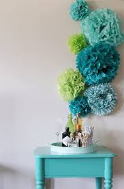 blue teal aqua tissue paper flowers on tissue paper flowers wall art with diy wall art decor ideas that will get you compliments