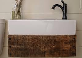 Image Floating Shelf Reclaimed Wood Floating Vanity Diy Girl Meets Carpenter Featured On remodelaholic Remodelaholic Remodelaholic Reclaimed Wood Floating Vanity