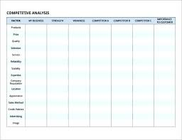 Competitor Analysis Template Xls How To Write A Competitive Analysis Idm Group Co