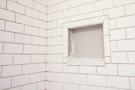 figuring out a shower niche with subway tile