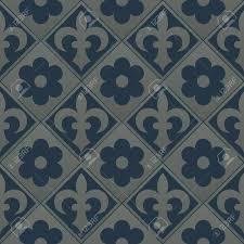 Zilveren Naadloze Patroon Op Een Donkerblauwe Achtergrond Royal