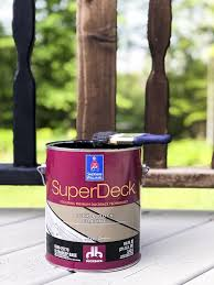 It comes in more than 50 colors ranging from natural redwood and cedar hues to more. How To Paint A Deck Grace In My Space