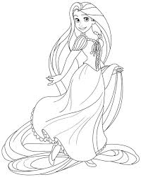 Rapunzel Coloring Pages Pdf At Getdrawingscom Free For Personal