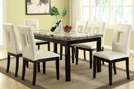 Dining Room Table Sets Leather Chairs Collection Interesting Decorating