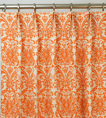 Orange Curtains For Living Room Ornate Chevron Orange Curtains With Modern Sleeper Couch Added