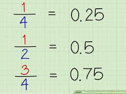 Common Fraction To Decimal Conversion Chart 4 Easy Ways To Convert Fractions To Decimals Wikihow
