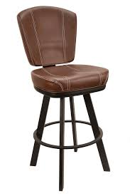 bucket bar stools. Interesting Stools GLADIATOR Commercial Brown Modern Bucket Bar Stool W White Stitching On  Large Base For Stools