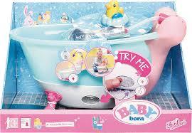 baby born interactive doll bathtub blue