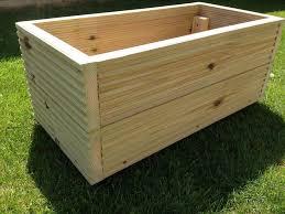 0 5m 1 5m large wooden window box decking planter trough garden