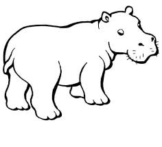 Small Picture Baby Hippo coloring page Free Printable Coloring Pages