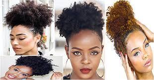 Afro Puff Coiffure Tendance Femme Noire Métisse