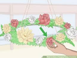 image titled make a hanging flower chandelier step 6