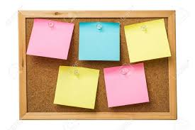 Cork Bulletin Board Colorful Sticky Notes On Cork Bulletin Board Stock Photo Picture