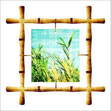 bamboo picture frames 16x20 frame with a isolated on white image bamboo frames