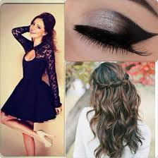 prom hair style and make up