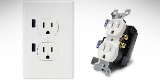 install an electrical outlet built in usb ports
