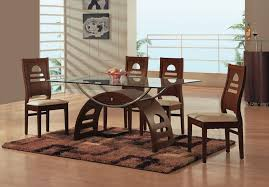 stylish dining room sets glass top with glass top dining table set
