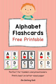 The cards can be used to play memory game and matching (print cards twice). Alphabet Flashcards Free Printable The Teaching Aunt