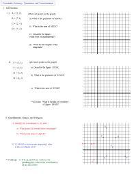 Rotation Maths Worksheet Printables Geometry Transformation ...