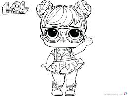 Dolls Coloring Pages Doll Lol Surprise Pets Longesinfo