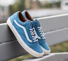 vans old skool reissue classic leather blue