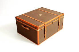 rare ralph lauren leather trunk or coffee table at stdibs