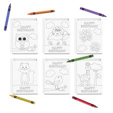 Here are the 15 most popular greeting cards these greeting cards are easy to download and print. Printable Happy Birthday Coloring Cards 6 Birthday Cards For Kids Animal Greeting Card Set Diy Print Color By Tickled Peach Studio Catch My Party