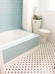 bathroom subway tile floor. Vapor Glass Subway Tile Bathtub Surround Bathroom Floor