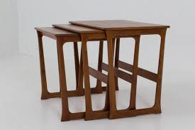 mid century danish modern nesting tables by johannes andersen 1960s 8 1 806 00 per set