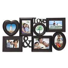 adeco 7 openings decorative black wood love family wedding vacation collage