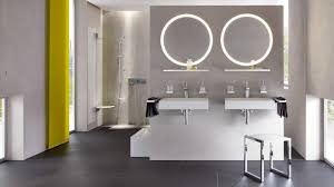 mirror with integrated lighting. HEWI Mirror With Integrated Lighting A