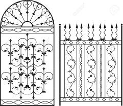 farm fence drawing. 1300x1131 Wrought Iron Gate, Door, Fence, Window, Grill, Railing Design Farm Fence Drawing